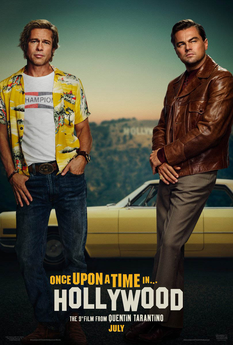Tarantino's 'Once Upon a Time in Hollywood' Gets a Poster Complete with a Terribly Photoshopped ​Leonardo DiCaprio and Brad Pitt