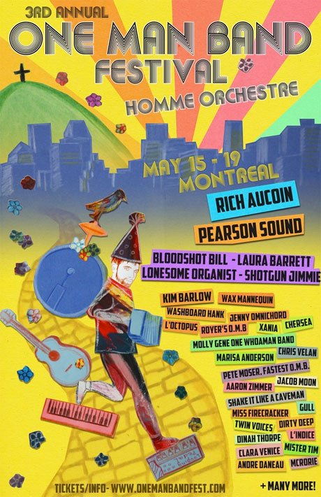 Montreal's One Man Band Festival Ropes In Rich Aucoin, Pearson Sound, Shotgun Jimmie, B.A. Johnston, Laura Barrett