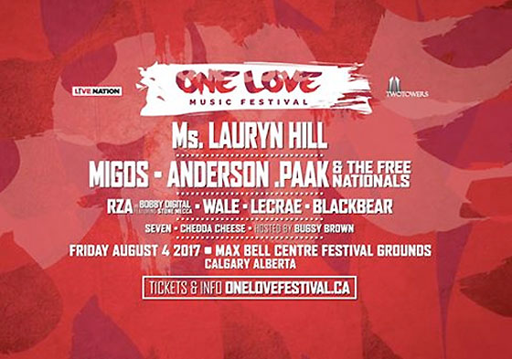 Calgary's One Love Music Festival Gets Lauryn Hill, Migos, Anderson. Paak