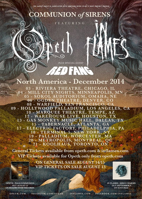 In Flames and Opeth Team Up for North American Tour
