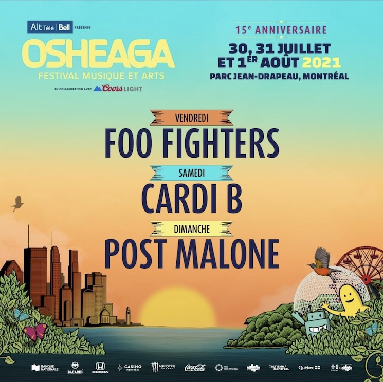 Osheaga Plans to Return in 2021 with Foo Fighters, Post Malone and Cardi B