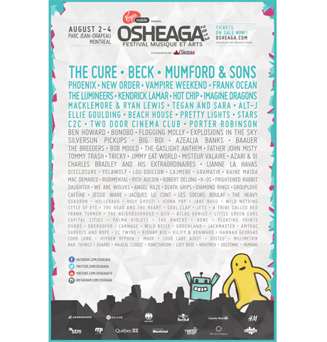 Osheaga Adds Beck, Frank Ocean, Bob Mould, K-os to 2013 Lineup