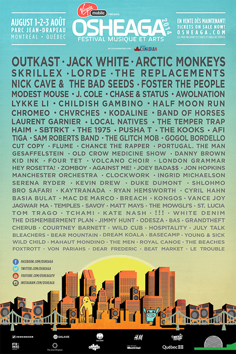 Osheaga Reveals 2014 Lineup with Outkast, Jack White, Lorde, Modest Mouse, Replacements
