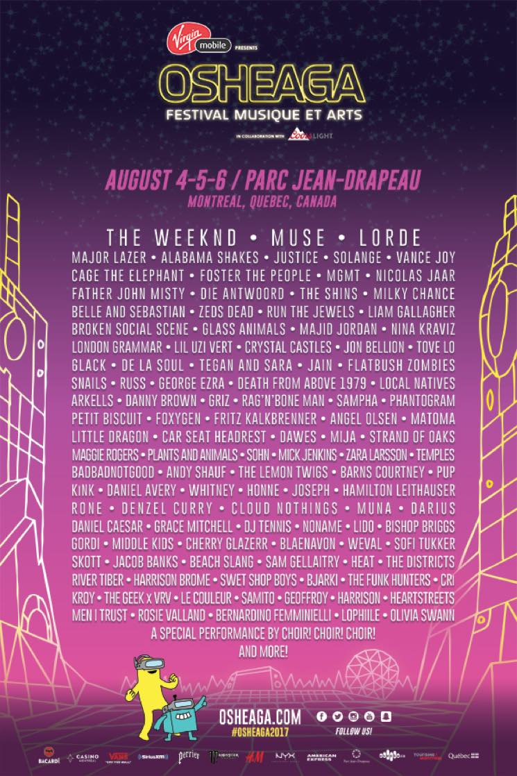 ​Osheaga Reveals 2017 Lineup with the Weeknd, Muse, Lorde