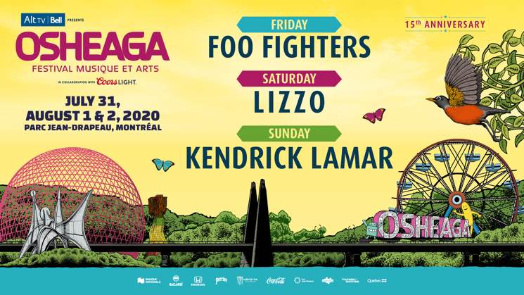 Foo Fighters, ​Lizzo and Kendrick Lamar to Headline Osheaga 2020
