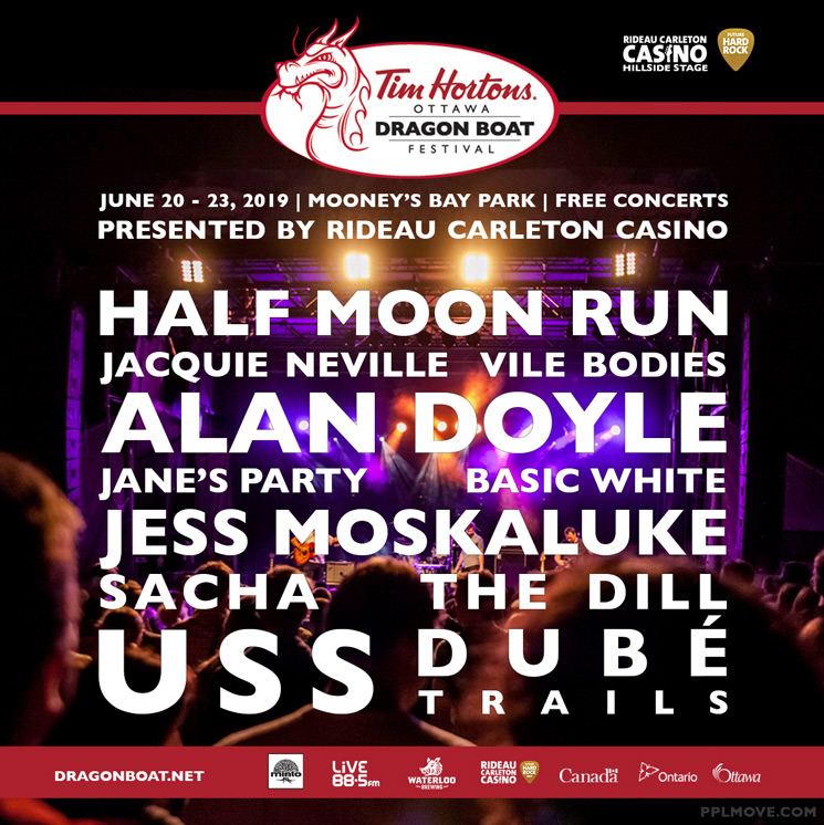 Ottawa Dragon Boat Festival Unveils 2019 Lineup with Half Moon Run, Alan Doyle, USS