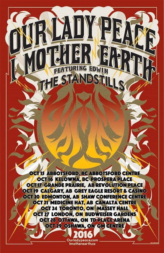 Our Lady Peace and I Mother Earth Team Up for Canadian Tour