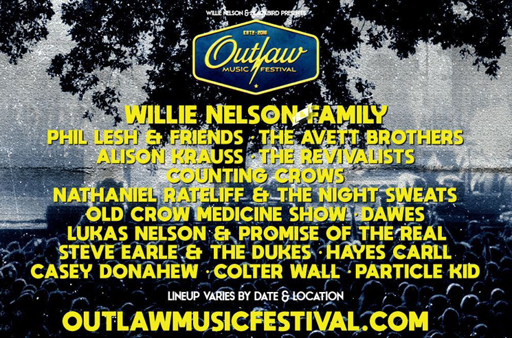 Willie Nelson Sets Toronto Date for Outlaw Music Festival 2019