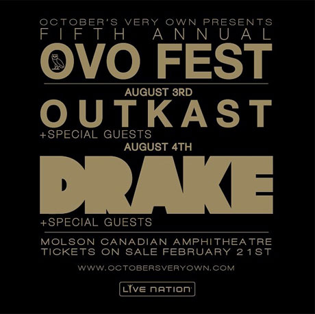 Drake Bringing Outkast to Toronto for 2014 OVO Fest