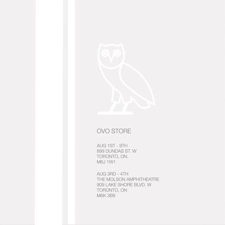 Drake Opens Toronto Pop-Up Shop for OVO Fest Clothing Line