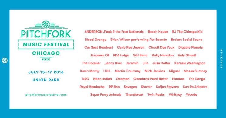 Pitchfork Music Festival Unveils 2016 Lineup
