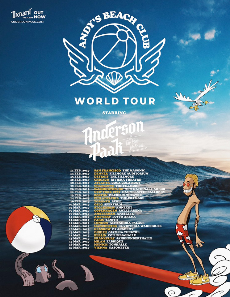 Anderson .Paak Takes 'Oxnard' on World Tour