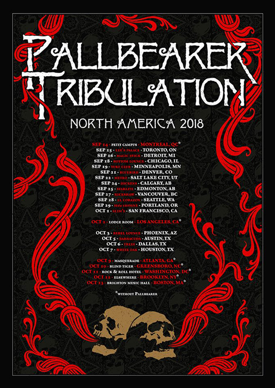Pallbearer and Tribulation Team Up for North American Tour