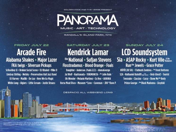 NYC's Coachella-affiliated Panorama Festival Unveils Lineup