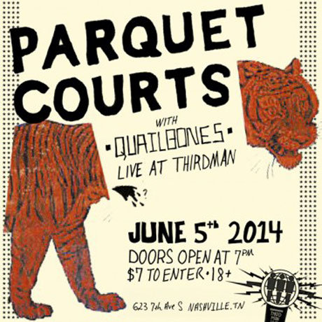 Parquet Courts to Record 'Live at Third Man' Album