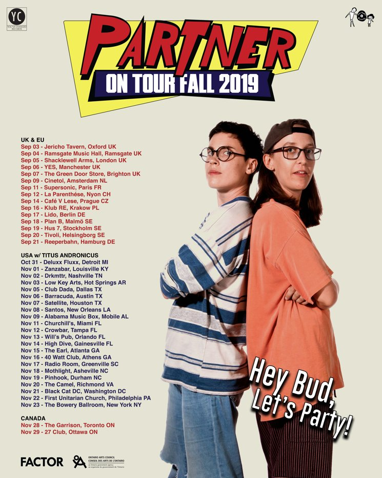 Partner Cover Rush, Map Out Fall Tour