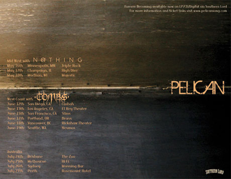 Pelican Announce North American Dates with Nothing and Tombs, Play Vancouver