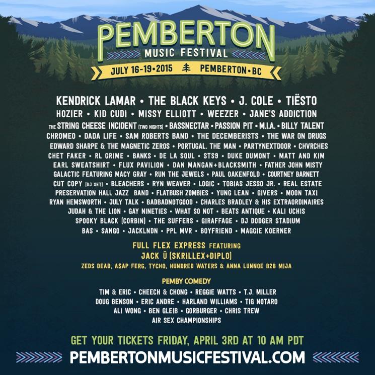 BC's Pemberton Music Festival Announces 2015 Lineup