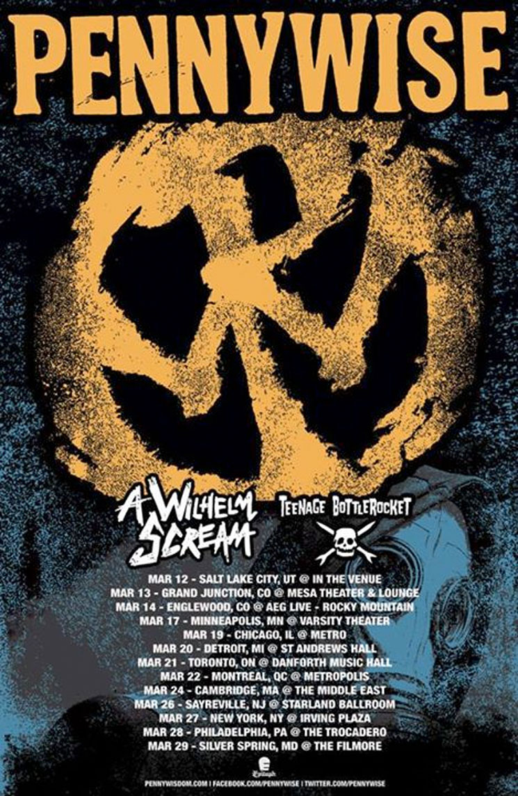 Pennywise Reveal North American Tour with A Wilhelm Scream, Teenage Bottlerocket