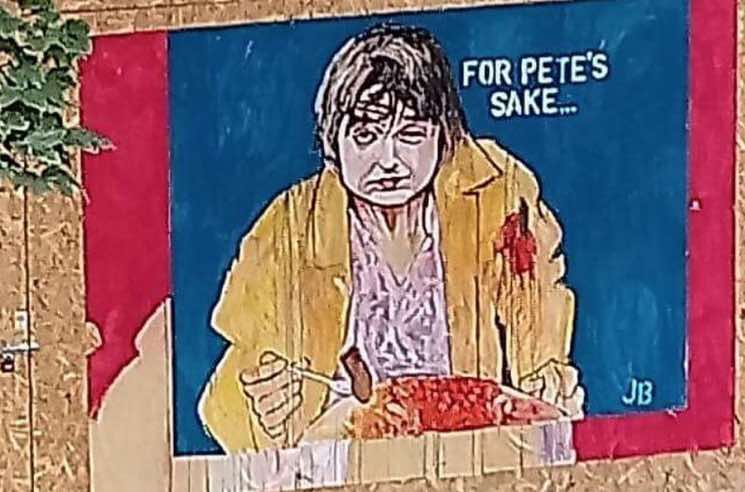 Someone Painted a Mural of Pete Doherty Eating a Massive Breakfast
