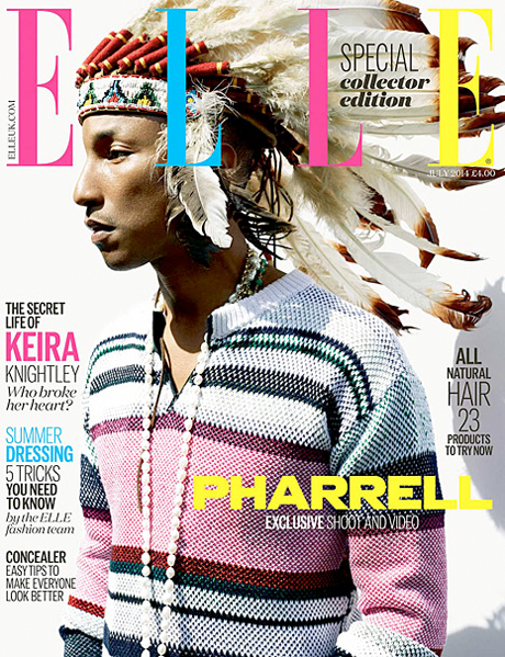 Pharrell Williams Apologizes After Wearing Headdress on 'Elle' Cover