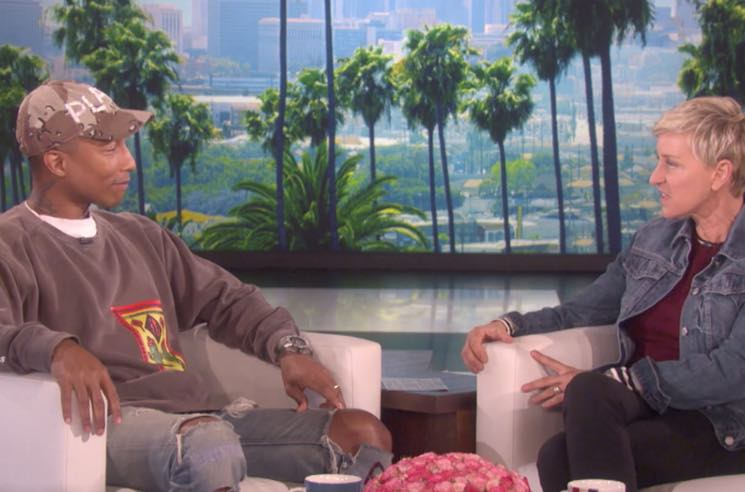 "​Watch Pharrell Perform ""Runnin'"" and Discuss Dropping Kim Burrell on 'Ellen'"