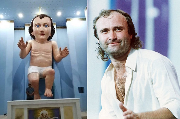 This Giant Baby Jesus Statue Looks an Awful Lot Like Phil Collins