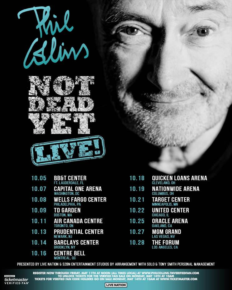 "​Phil Collins Plots ""Not Dead Yet, Live!"" North American Tour"