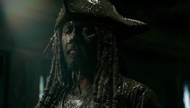 Johnny Depp Finally Shows Up in the New Trailer for 'Pirates of the Caribbean: Dead Men Tell No Tales'