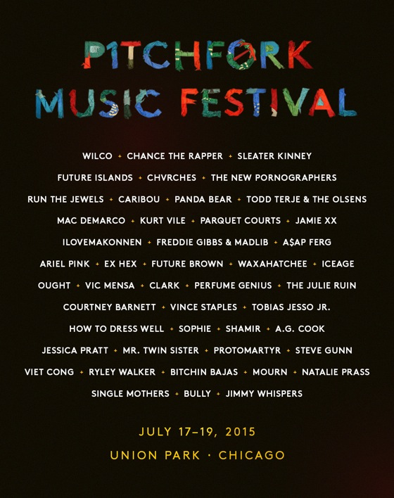 Pitchfork Music Festival Reveals 2015 Lineup