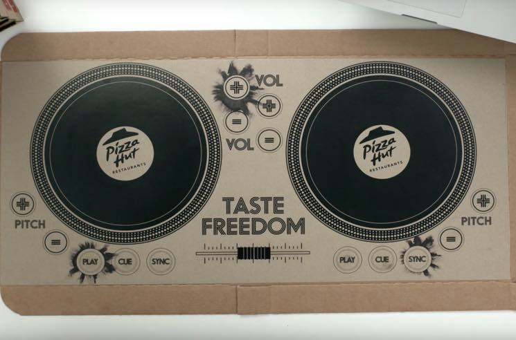 Pizza Hut Serves Up Playable Pizza Box Turntables