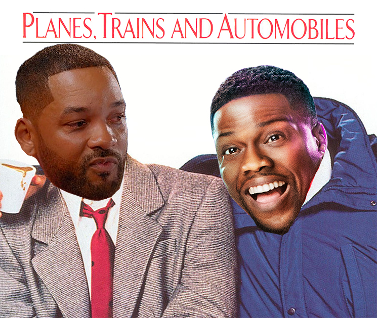 Will Smith and Kevin Hart Are Starring in a 'Planes, Trains and Automobiles' Reboot
