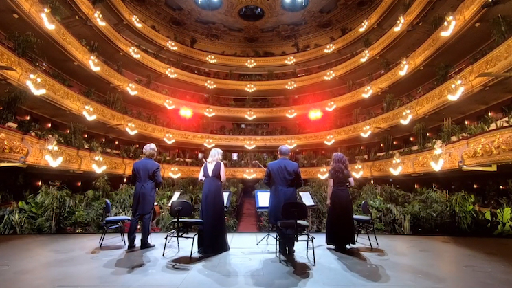 Barcelona Opera House Reopens with Classical Concert for an Audience of 3,000 Houseplants