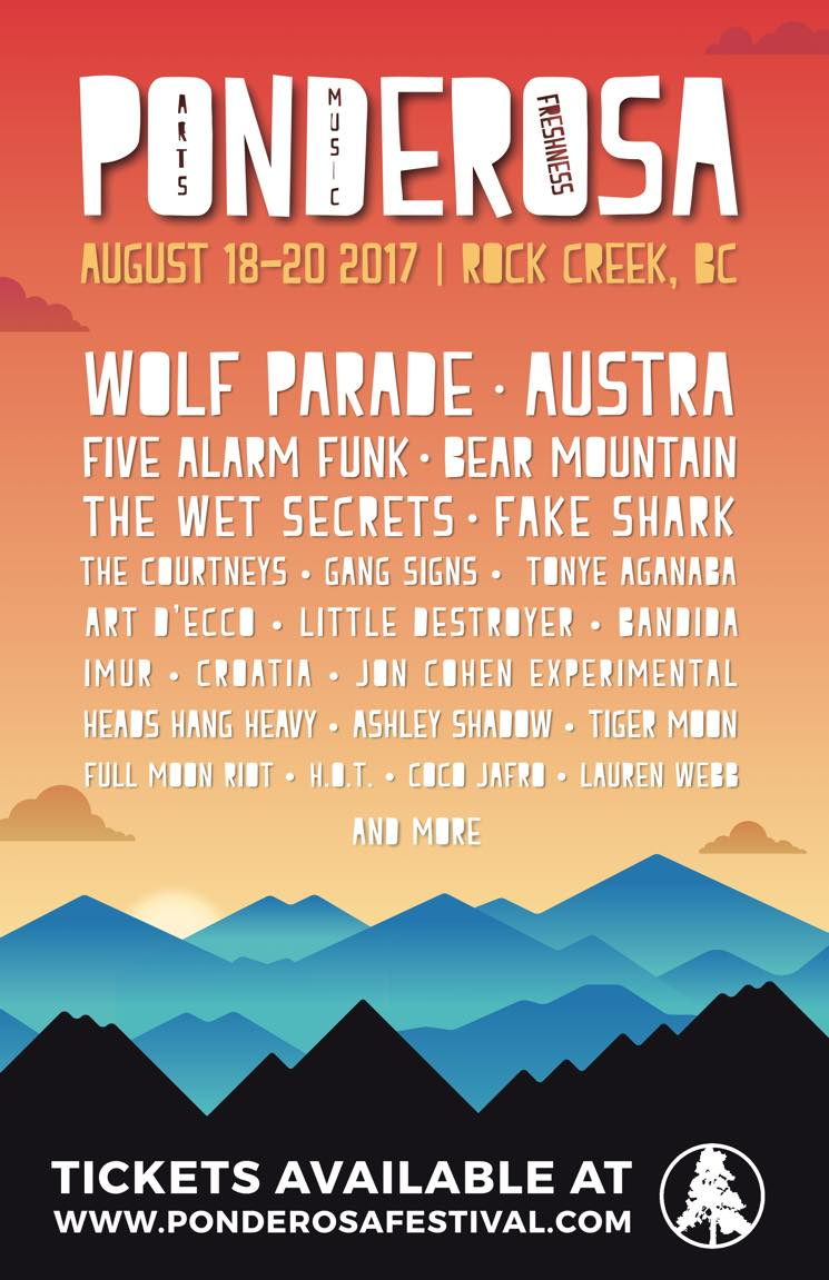 ​BC's Ponderosa Festival Rolls Out 2017 Lineup with Wolf Parade, Austra, the Courtneys