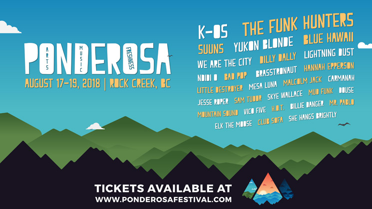 ​Ponderosa Announces 2018 Lineup with K-os, the Funk Hunters, Suuns and Yukon Blonde