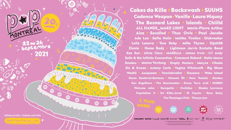 POP Montreal Announces 2021 Lineup Additions