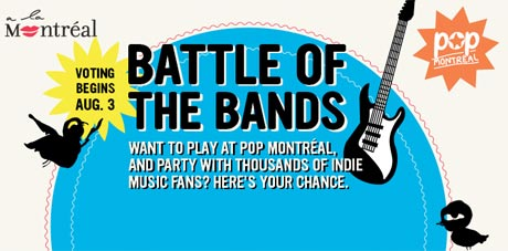 Win a Chance to Perform at Pop Montreal with Battle of the Bands Contest