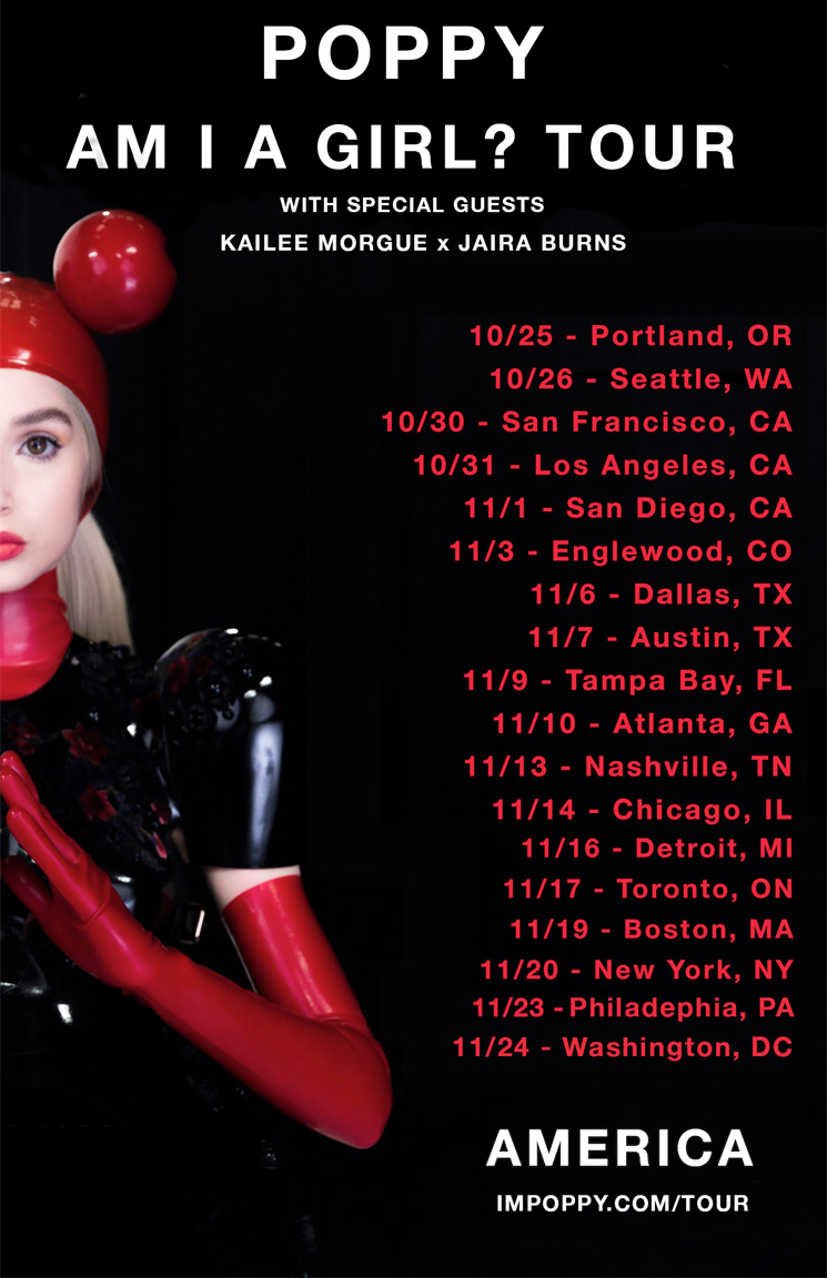 "Poppy Announces ""Am I a Girl?"" North American Tour"