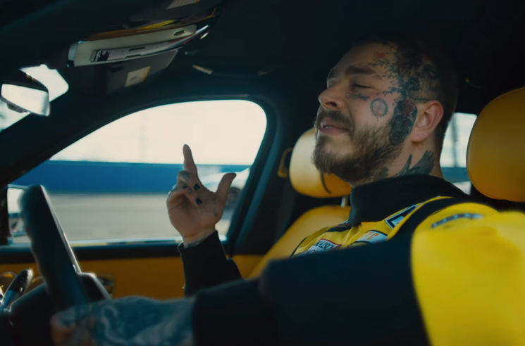 Post Malone Puts the Pedal to the Floor in His 'Motley Crew' Video