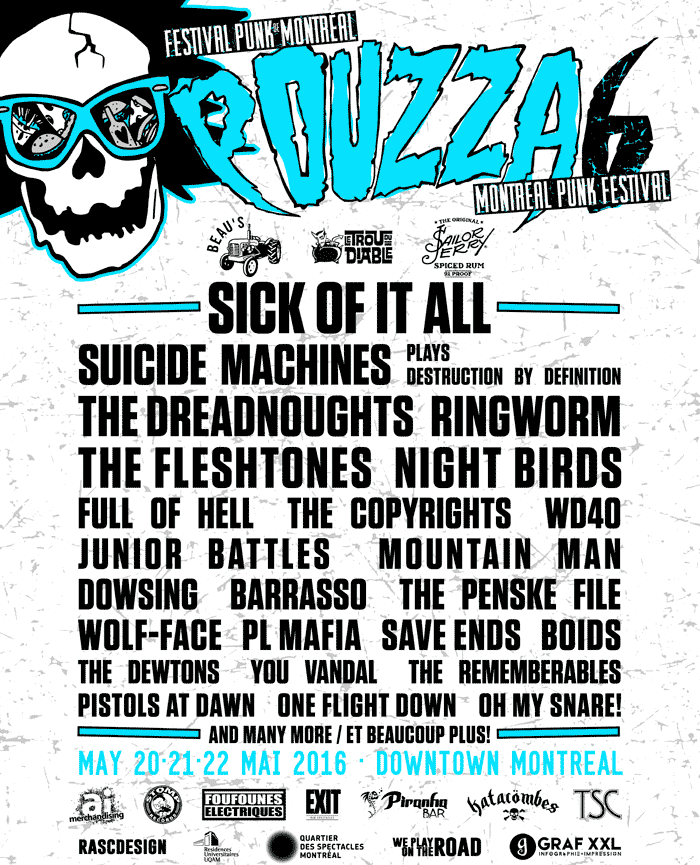 Montreal's Pouzza Fest 6 Gets Sick of It All, Ringworm, the Copyrights