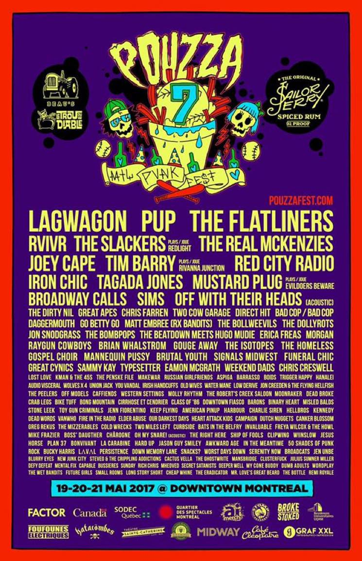 Montreal's Pouzza Fest Reveals 2017 Lineup with Lagwagon, PUP, the Flatliners