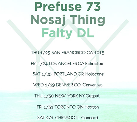 Prefuse 73 Teams Up with Nosaj Thing and FaltyDL for North American Tour, Hits Toronto