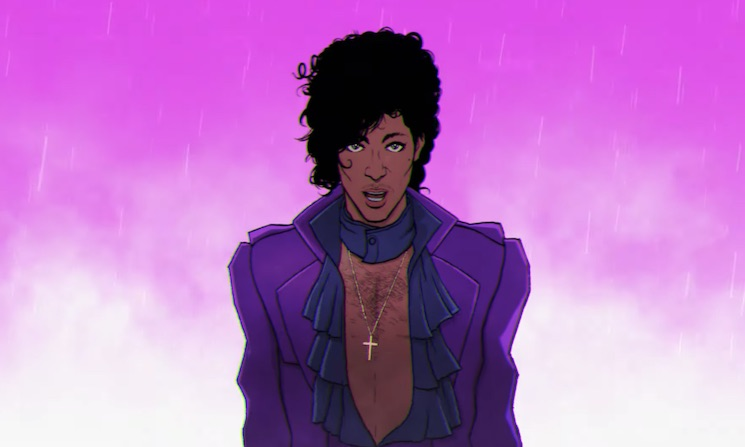 "Prince Is Back in Cartoon Form with the Animated ""Holly Rock"" Video"