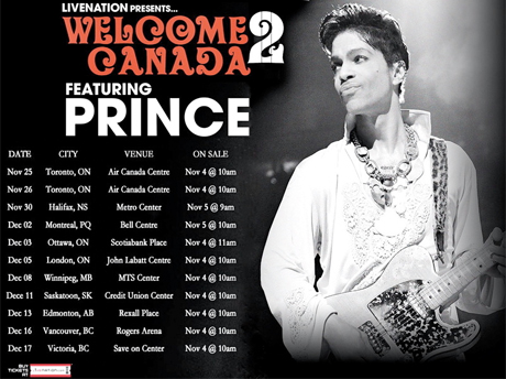 "Prince Announces ""Welcome 2 Canada"" Tour"