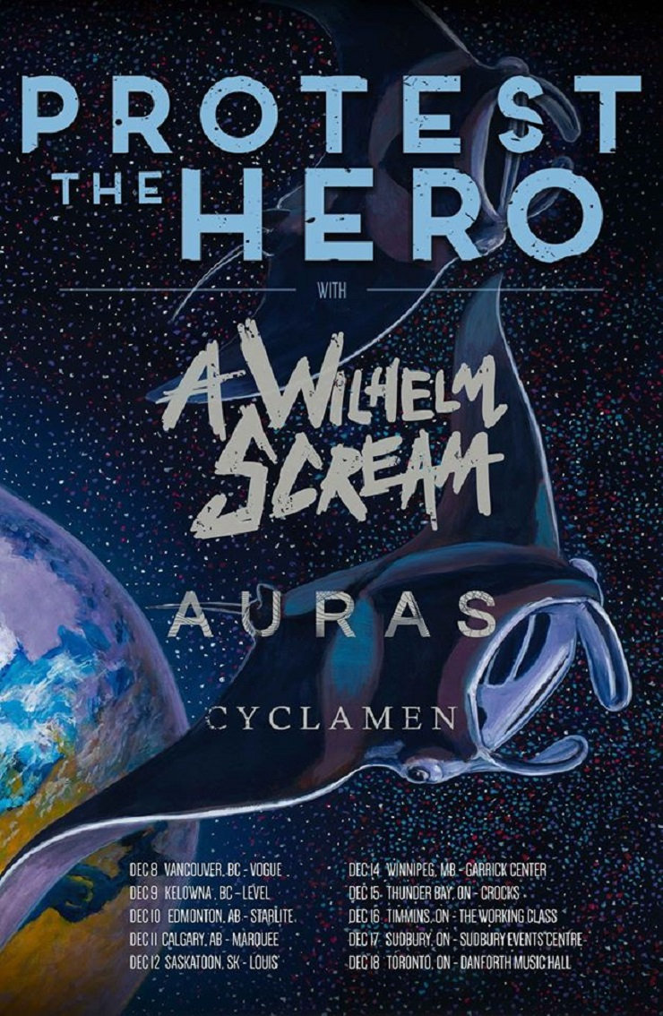 Protest the Hero Announce Canadian Tour with A Wilhelm Scream