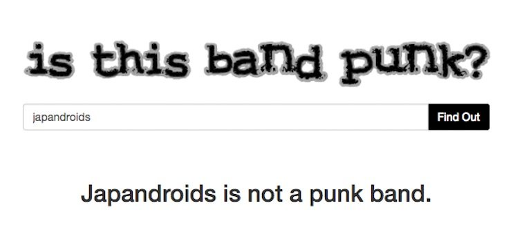 There's Finally a Website to Tell You Whether Your Favourite Bands Are Punk or Not