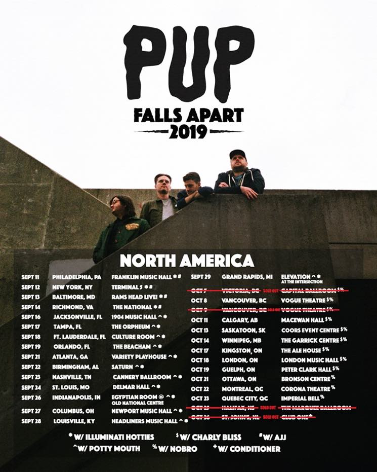 "​PUP Add London, Guelph, Ottawa Shows to ""Falls Apart"" Tour"