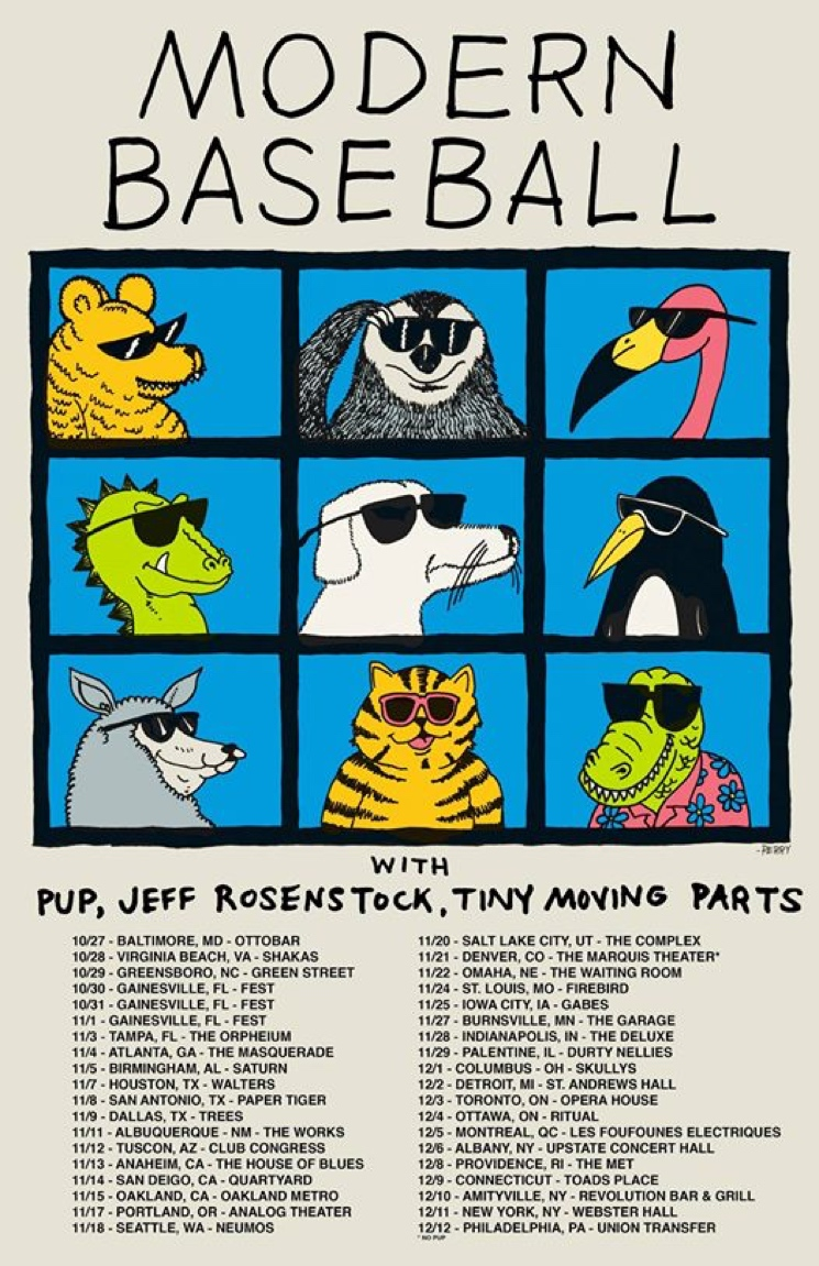 PUP and Modern Baseball Book North American Fall Tour