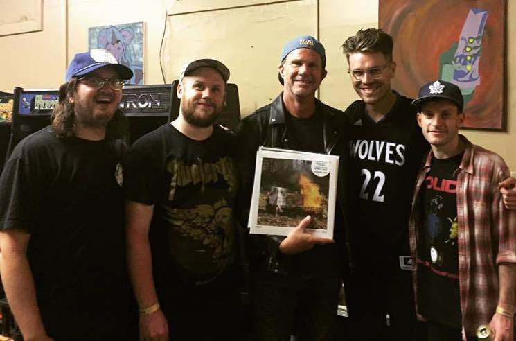Red Hot Chili Peppers Drummer Chad Smith Chilled at a PUP Show Last Night