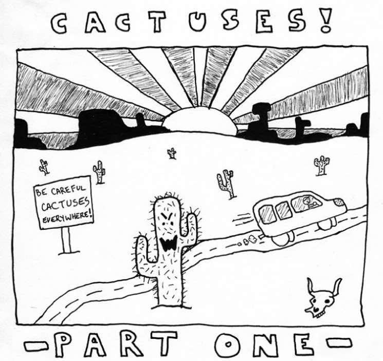 ​PUP's Stefan Babcock Documents Cactus Disaster with Jeff Rosenstock in Comic Strip